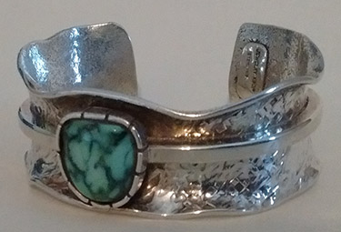 Snowville turquoise bracelet cottonwood silver for Jewelry supply colorado springs
